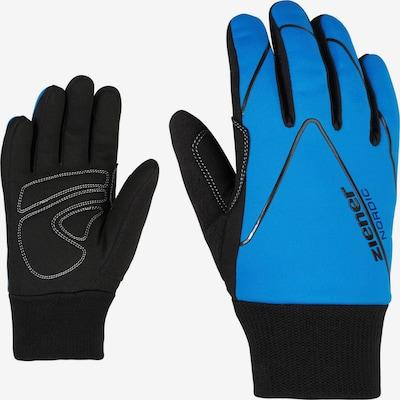 ZIENER Sporthandschuhe 'Unico' in blau / schwarz, Produktansicht