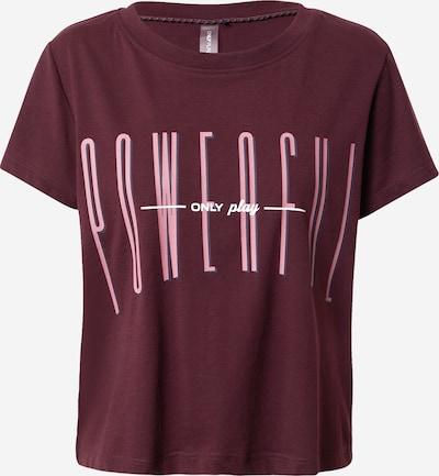 ONLY PLAY Funkcionalna majica 'ODA' | svetlo roza / bordo barva, Prikaz izdelka