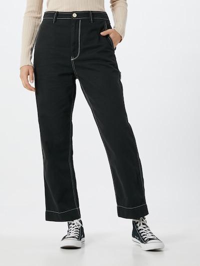 Pantaloni 'Workforce Carpenter' GAP pe negru / alb, Vizualizare model