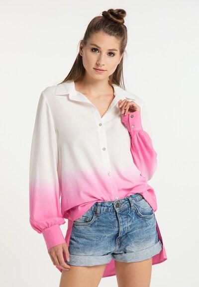 MYMO Hemdbluse in pink / weiß, Modelansicht