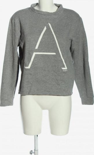 ADPT. Sweatshirt in M in hellgrau / weiß, Produktansicht