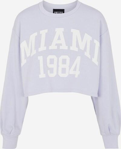 PIECES Sweatshirt 'MYTNA' in helllila / weiß, Produktansicht