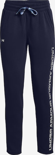 UNDER ARMOUR Workout Pants in Night blue / White: Frontal view