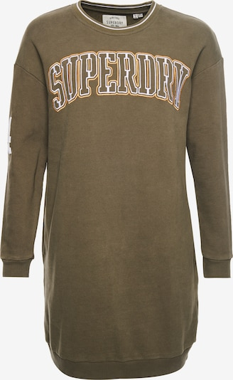 Superdry Robe en olive / orange / blanc, Vue avec produit