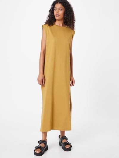 Karo Kauer Kleid 'Mira' in curry, Modelansicht