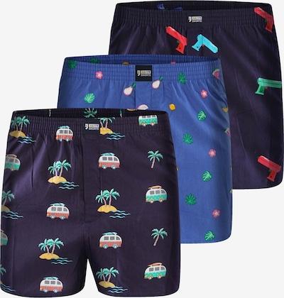 Happy Shorts Boxers 'Holidays' en bleu / bleu foncé, Vue avec produit