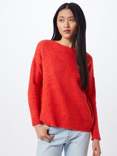 MORE & MORE Pullover in feuerrot, Modelansicht