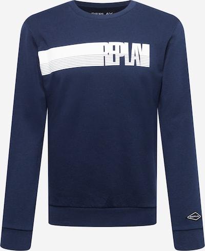 REPLAY Sweatshirt in navy / weiß, Produktansicht