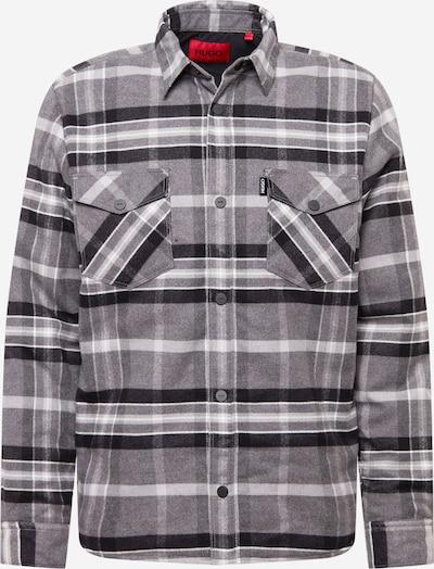 HUGO Hemd 'Espin' in hellgrau / graumeliert / schwarz / weiß, Produktansicht