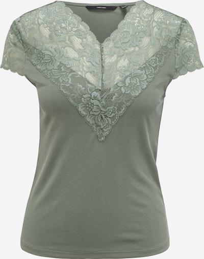 Vero Moda Petite T-shirt 'PHINE' en vert, Vue avec produit