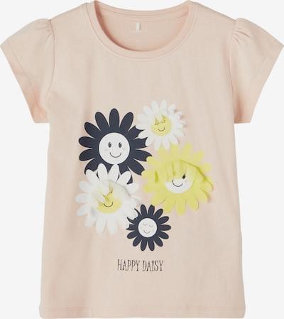 NAME IT Camiseta 'Happy Celia' en amarillo / rosa / negro / blanco, Vista del producto
