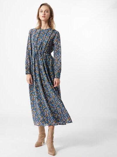 JACQUELINE de YONG Kleid 'PARIS' in blau / navy / goldgelb / grün / weiß, Modelansicht