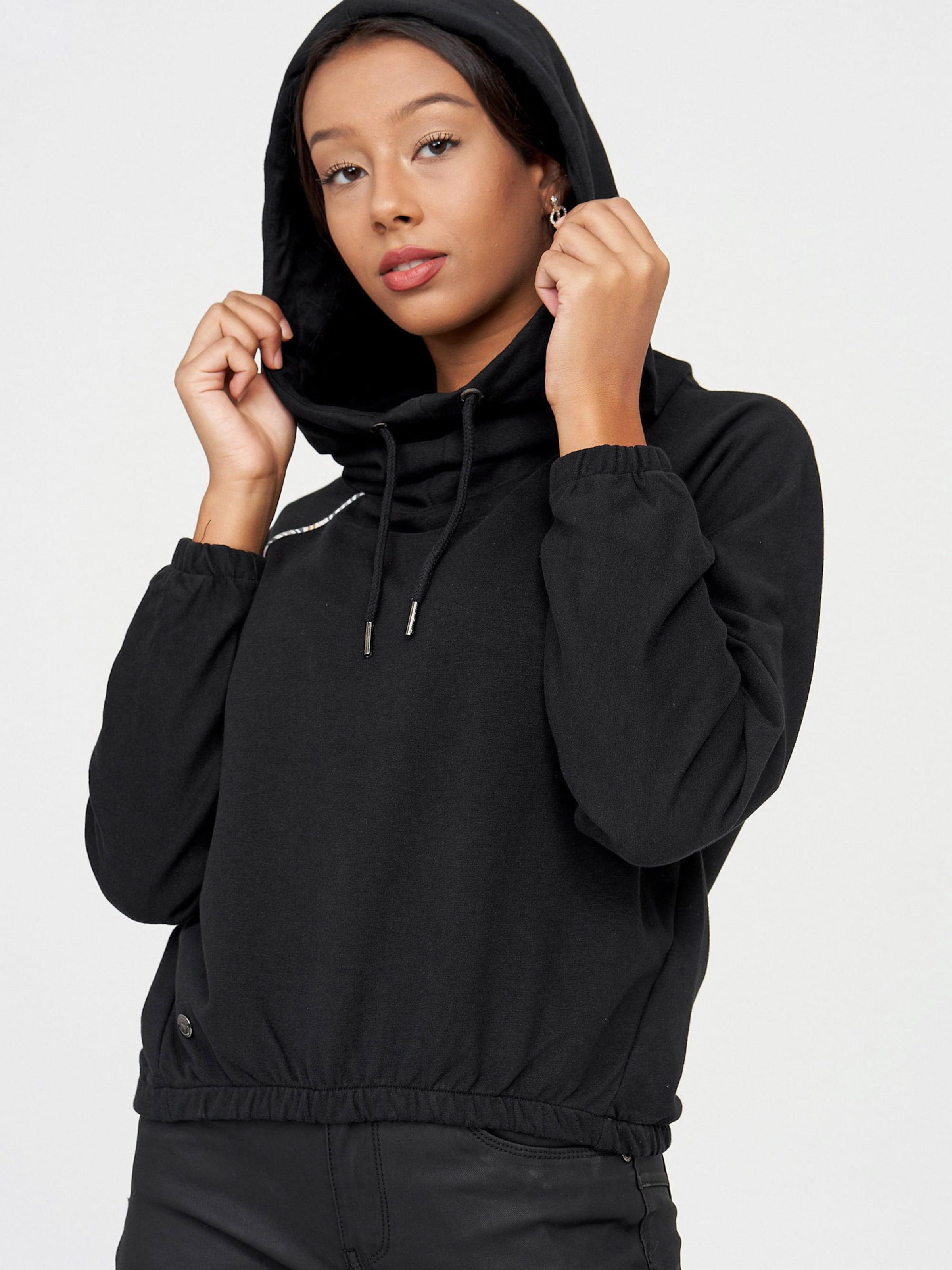 mazine Hoody ' Mesa ' in schwarz