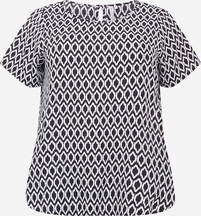 ONLY Carmakoma Bluse 'Vica' in schwarz / weiß, Produktansicht