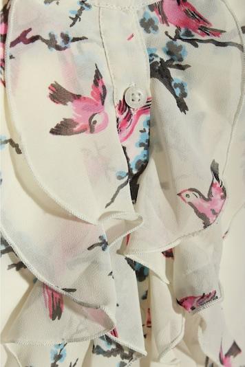 Marie Lund Transparenz-Bluse in L in blau / pink ...