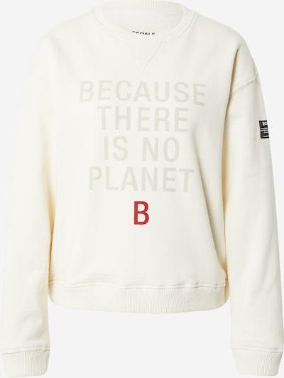 ECOALF Sweat-shirt en crème / taupe / rouge feu / noir, Vue avec produit