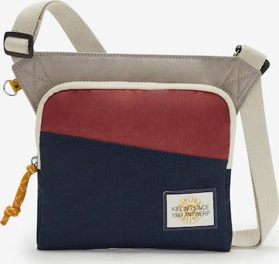 KIPLING Taška cez rameno 'Almiro' - béžová / námornícka modrá / červená / biela, Produkt