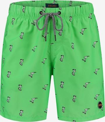 Shiwi Badeshorts 'Snoopy Happy Skater' i grønn