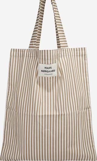 MADS NORGAARD COPENHAGEN Shopper 'Sacky Atoma' in de kleur Lichtbeige / Wit, Productweergave