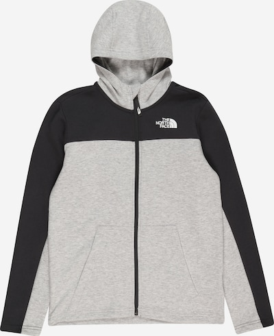 THE NORTH FACE Sportsweatjacke 'SLACKER' in graumeliert / schwarz, Produktansicht