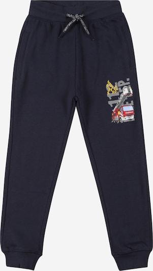 SALT AND PEPPER Pantalon en bleu marine / jaune / gris / rouge, Vue avec produit