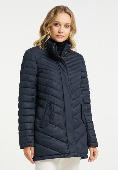 DreiMaster Klassik Mantel in nachtblau, Modelansicht