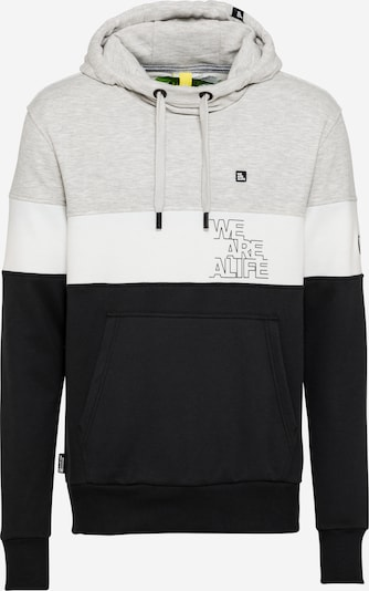 Alife and Kickin Sweat-shirt 'King' en gris chiné / noir / blanc, Vue avec produit