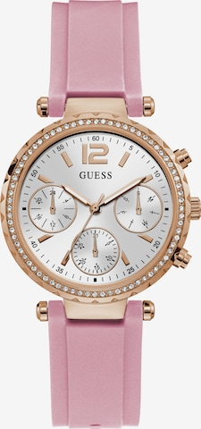 GUESS Multifunktionsuhr in Pink