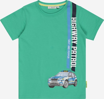 SALT AND PEPPER T-Shirt 'Police' en bleu / bleu marine / gris / jade / blanc, Vue avec produit