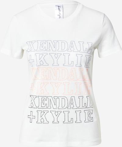 KENDALL + KYLIE T-shirt 'Embro' en bleu / orange / noir / blanc, Vue avec produit