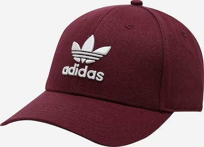 ADIDAS ORIGINALS Cap in bordeaux / weiß, Produktansicht