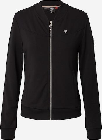Ragwear Zip-Up Hoodie 'NAIROBI' in Black