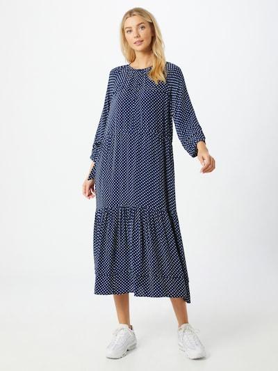 Noa Noa Kleid 'SOFT MOSS' in hellblau / dunkelblau / weiß, Modelansicht