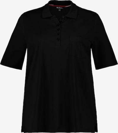 Ulla Popken Poloshirt in schwarz, Produktansicht