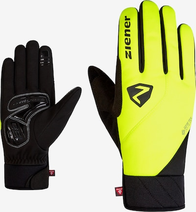 ZIENER Athletic Gloves 'DONNI GTX' in Yellow / Black, Item view