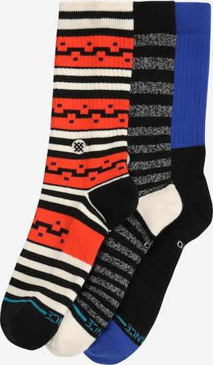 Stance Chaussettes de sport 'Irwin' en indigo / gris / rouge / noir, Vue avec produit