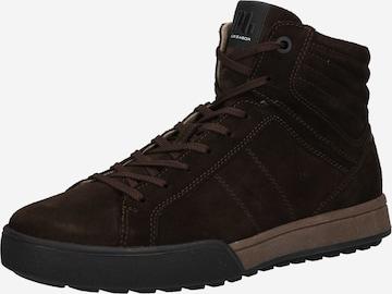 Sneaker alta di Pius Gabor in marrone