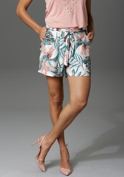 Aniston CASUAL Hose in beige / grün / pfirsich, Modelansicht