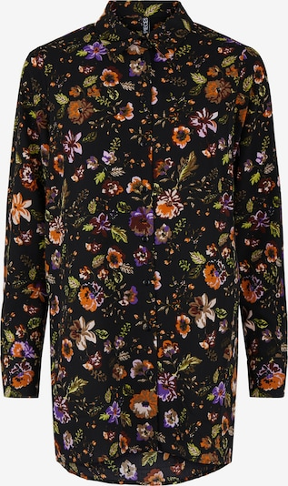 Bluză 'FALISHI' PIECES pe oliv / mov neon / roșu burgundy / negru / alb, Vizualizare produs
