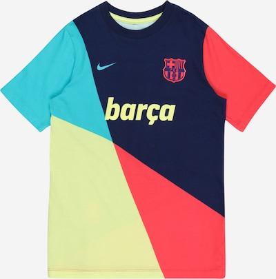 NIKE Sportshirt 'FCB B' in türkis / dunkelblau / pastellgelb / hellrot, Produktansicht