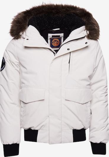 Superdry Winterjas 'Everest' in de kleur Zwart / Wit, Productweergave