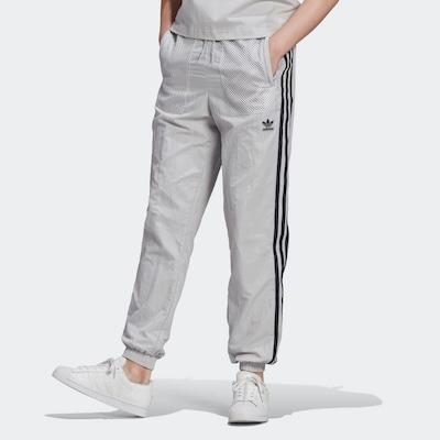ADIDAS ORIGINALS Pantalon en gris clair / noir, Vue avec modèle
