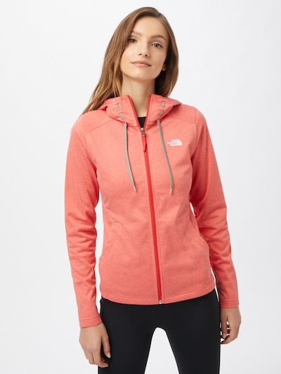 THE NORTH FACE Functionele fleece jas 'MEZZALUNA' in de kleur Watermeloen rood: Vooraanzicht