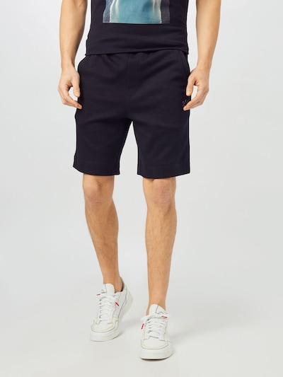 BOSS ATHLEISURE Pantalon 'Headlo' en noir, Vue avec modèle