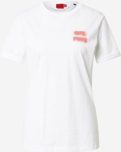 HUGO T-shirt 'Dibiusa' en rouge / blanc, Vue avec produit