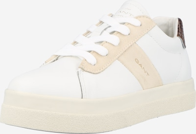GANT Låg sneaker 'Avona' i champagne / kastanjebrun / vit, Produktvy