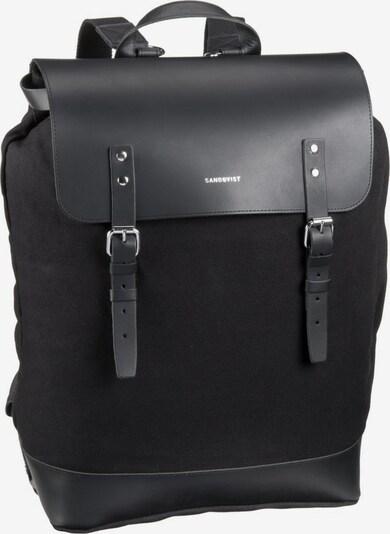 SANDQVIST Rucksack 'Hugo' in schwarz, Produktansicht