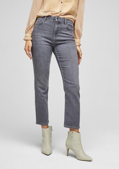 s.Oliver BLACK LABEL Jeans in dunkelgrau, Modelansicht