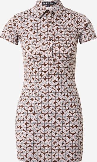 Motel Kleid  'Jeveux' in brokat / rosa / weiß, Produktansicht