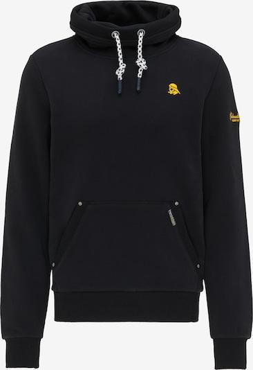 Schmuddelwedda Sweat-shirt en noir, Vue avec produit